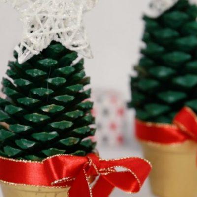 Cómo hacer mini árboles de Navidad