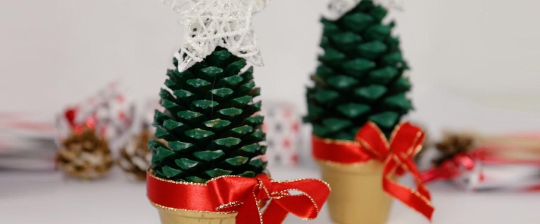 Como hacer mini árboles de Navidad