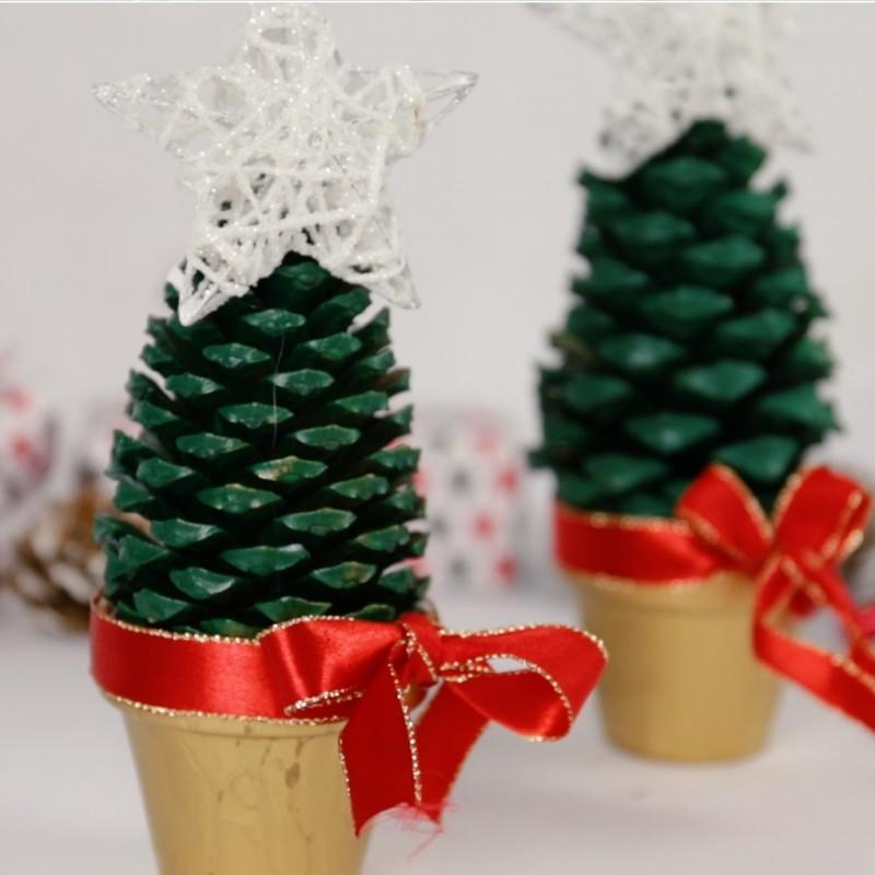 Paso 3- Cómo hacer mini árboles de Navidad