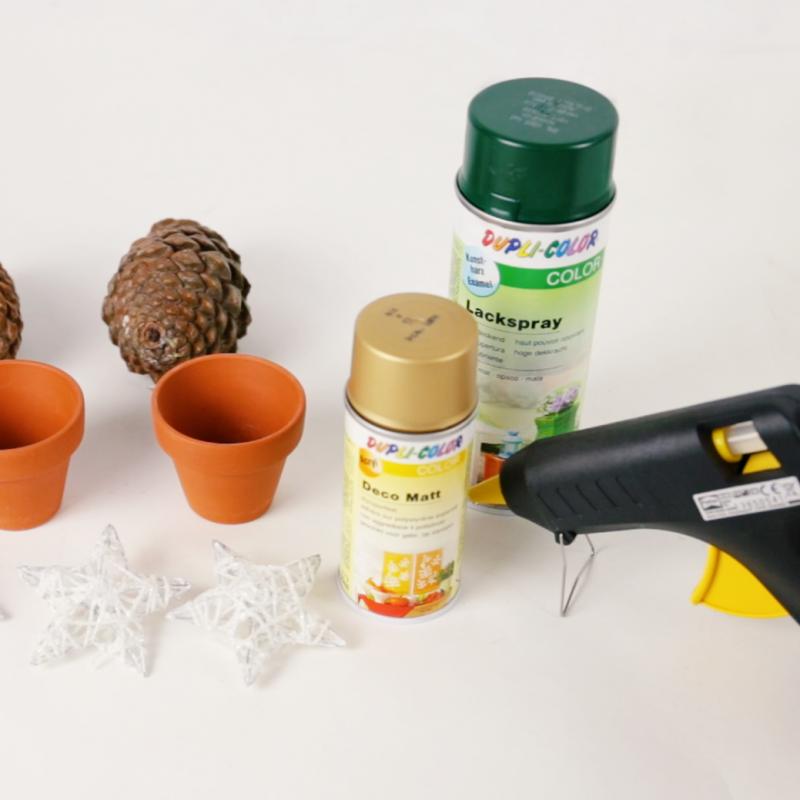 Materiales - Cómo hacer mini árboles de Navidad