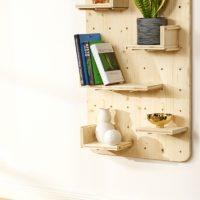 Como construir una estantería de madera para  pared