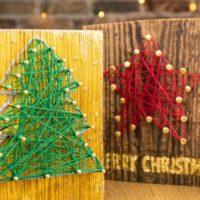 Crea tu tarjeta de navidad de madera