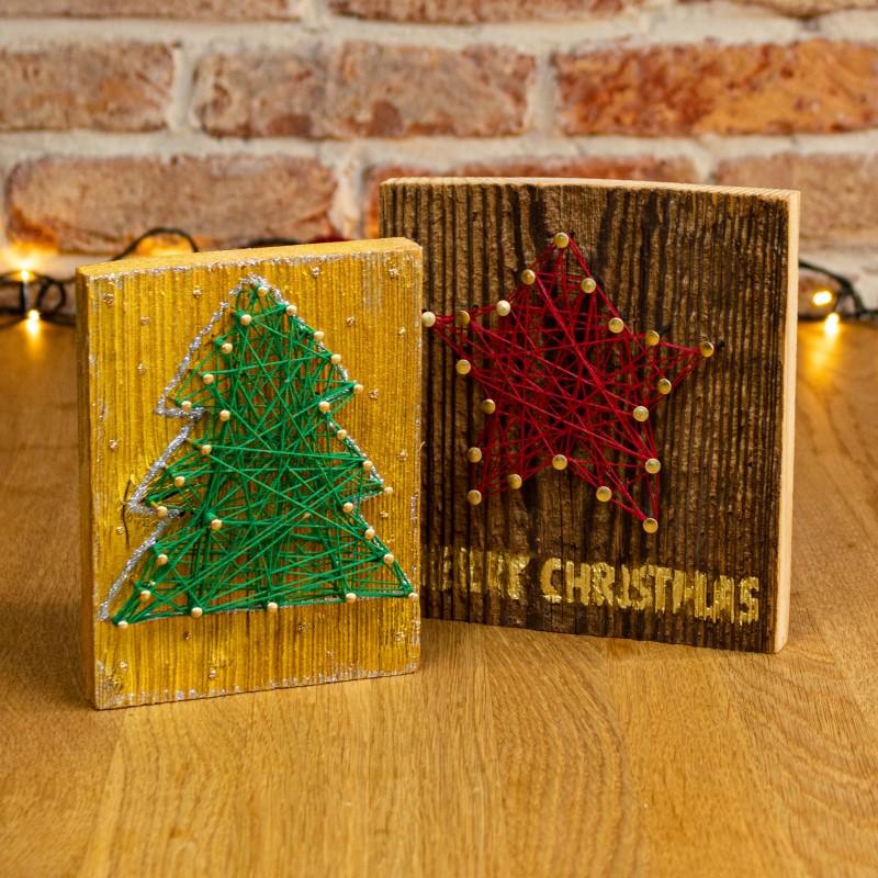 Crear tarjeta de Navidad de madera-paso5