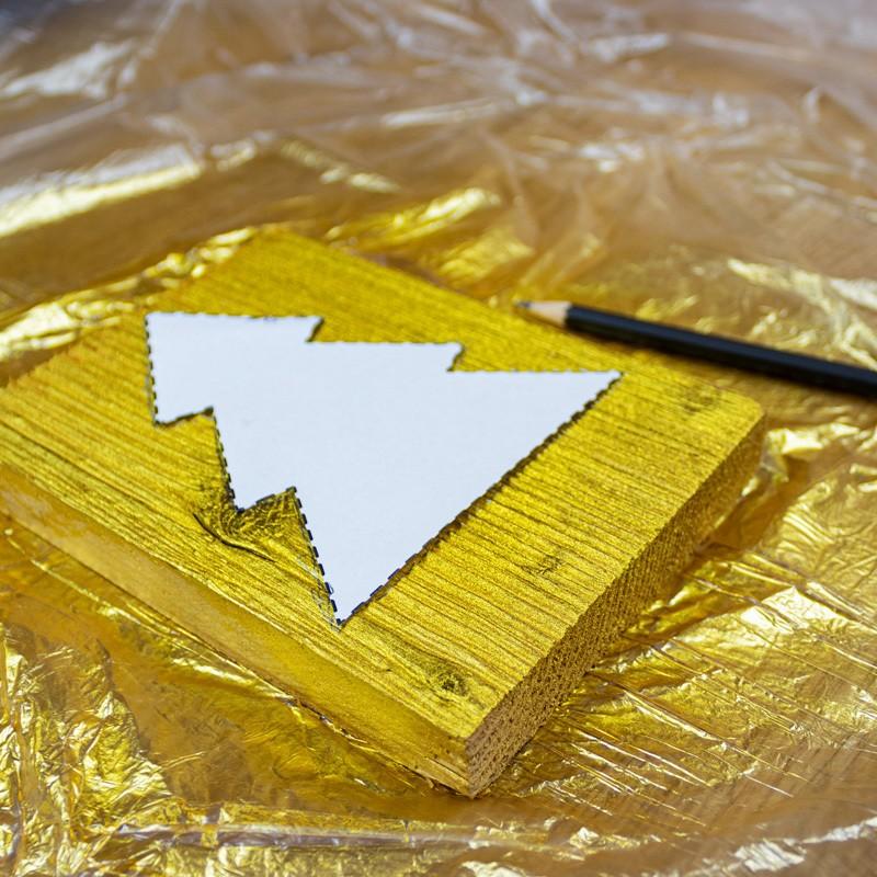 Crear tarjeta de Navidad de madera-paso2