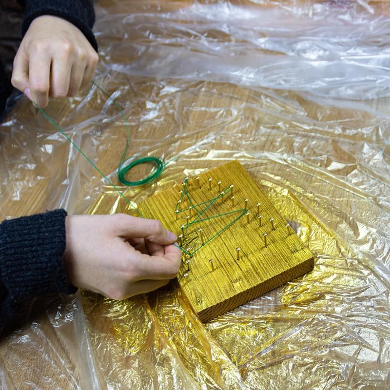 Crear tarjeta de Navidad de madera-paso4
