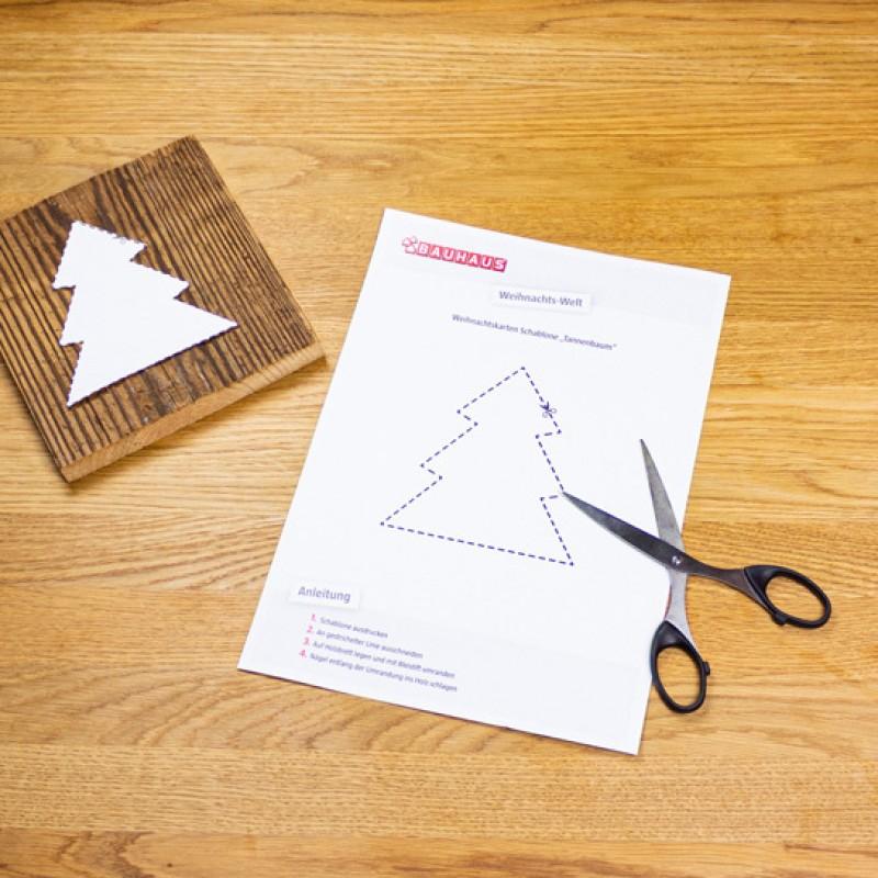 Crear tarjeta de Navidad de madera-paso1