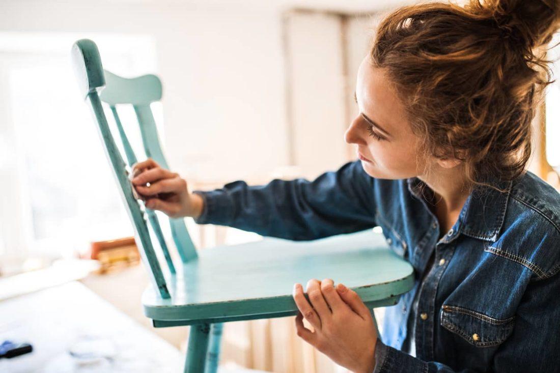 pintura a la tiza efecto envejecido