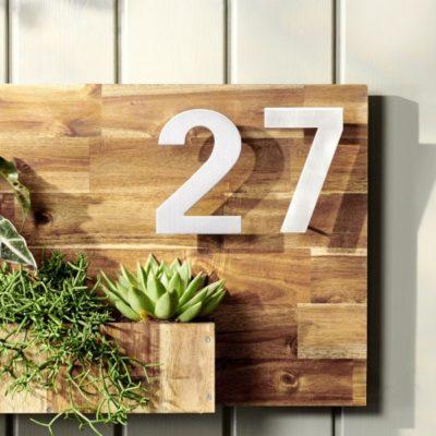 Número de casa en madera: cómo construirlo tú mismo