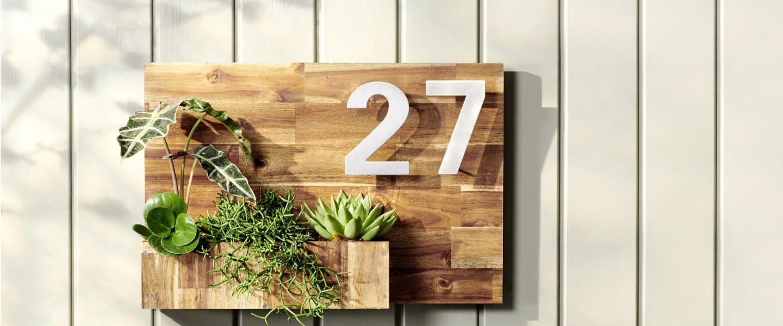 Cómo construir tu número de casa en madera