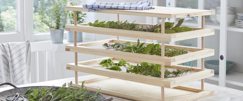 Estante para secar hierbas aromáticas
