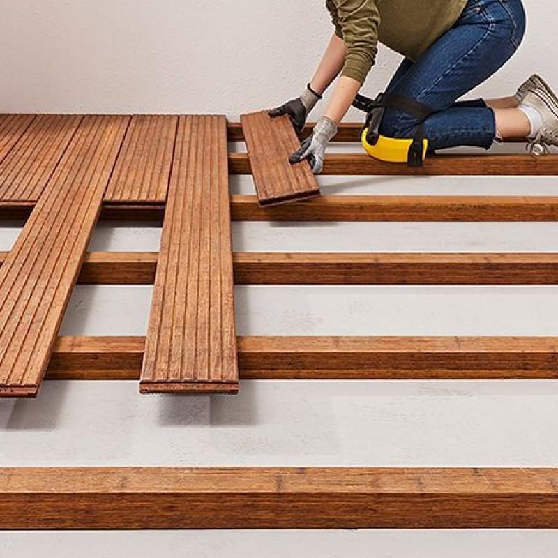 Instalar suelo terraza madera
