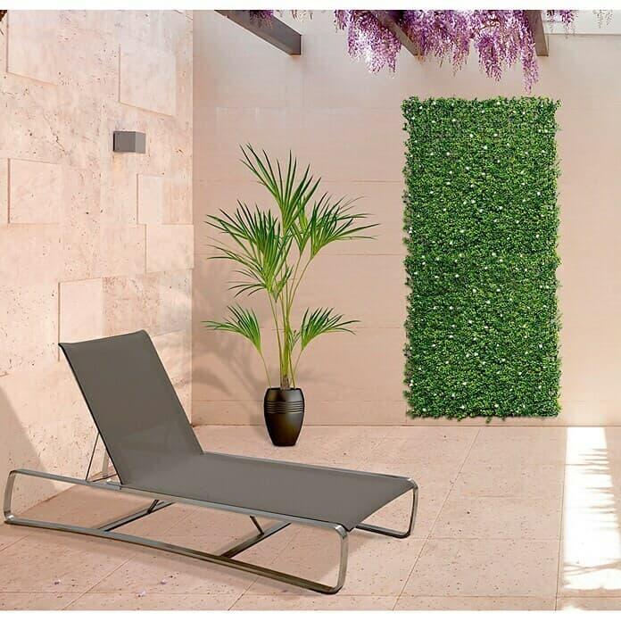 Decorar con plantas artificiales pared
