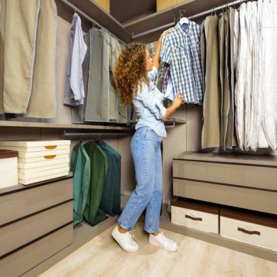 Técnicas para la iluminación de un vestidor