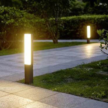 ideas iluminación jardín