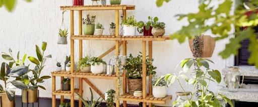 diy estantería plantas
