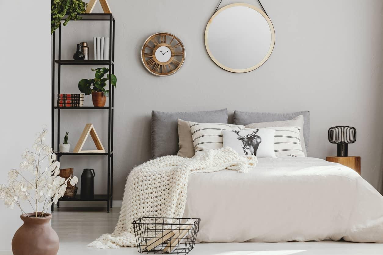 decorar pared cabecero cama matrimonio
